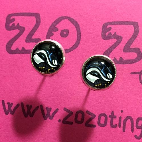 Alien Vs. Predator Stud Earrings
