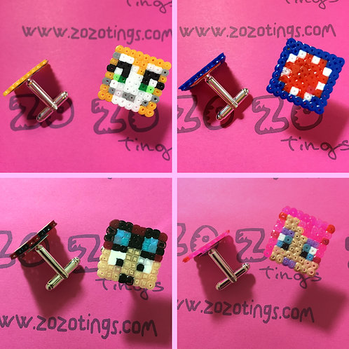 Minecraft All-stars Pixel Cufflinks