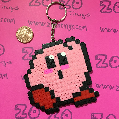 Kirby Pixel Keyring