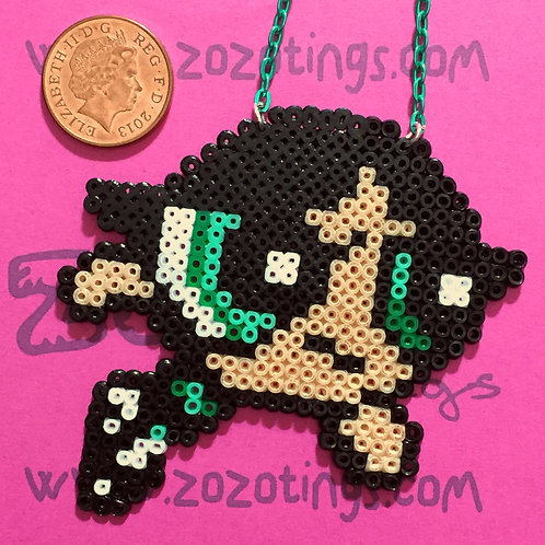 The Powerpuff Girls Buttercup Pixel Necklace