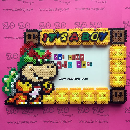 Baby Bowser Pixel Photo Frame