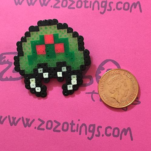 Metroid Pixel Badge