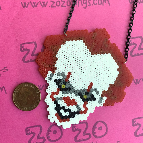 Pennywise Clown Pixel Necklace