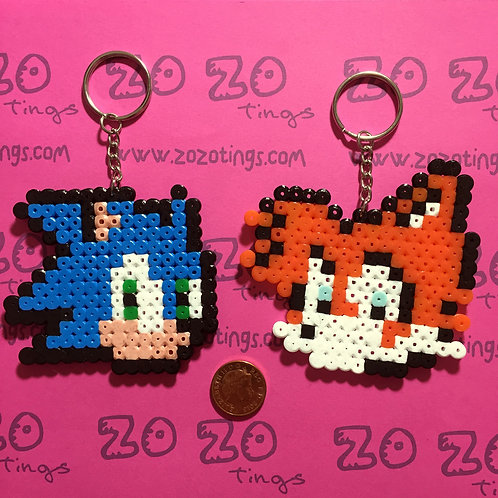 Sonic the Hedgehog Pixel Keyrings