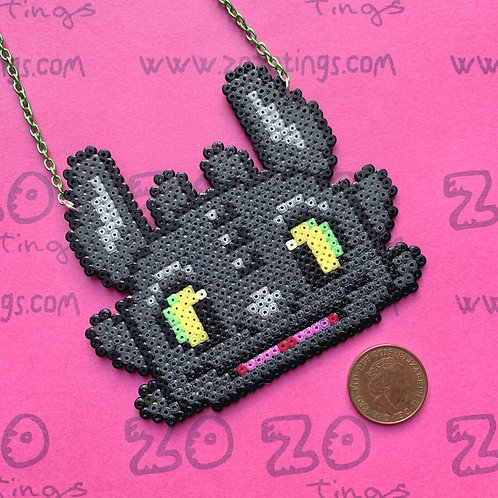 ToothlessDragon Pixel Necklace