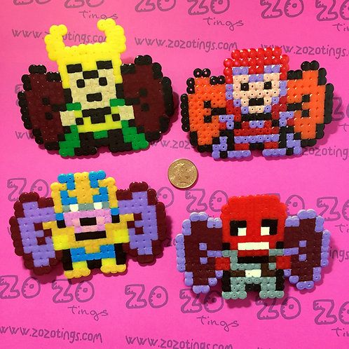 Marvel Villain Pixel Hair Bows