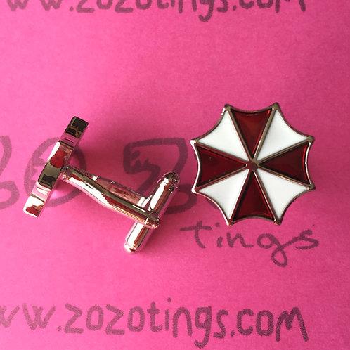The Umbrella Corporation Metal Cufflinks