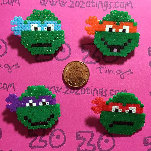 Turtles 'TMNT' Pixel Badges