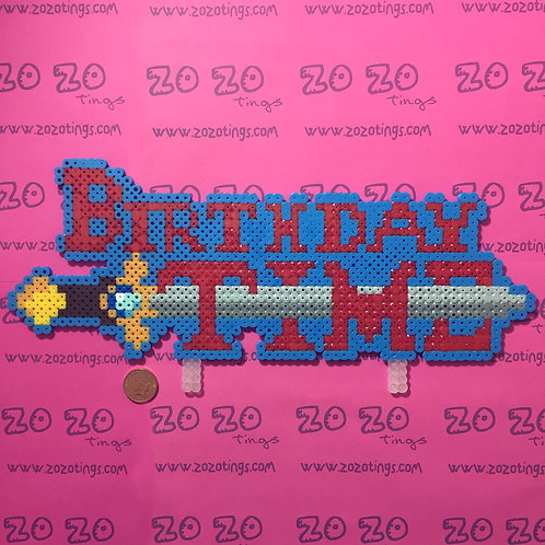 Adventure Time Pixel Birthday Cake Topper