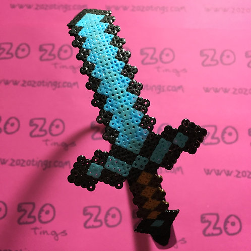 Minecraft Diamond Sword Pixel Headband