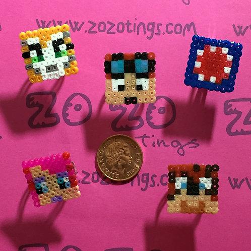 Minecraft All-stars Pixel Rings