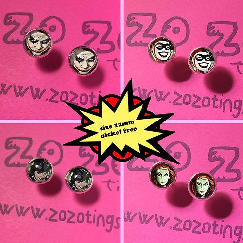 Gotham Villain Stud Earrings