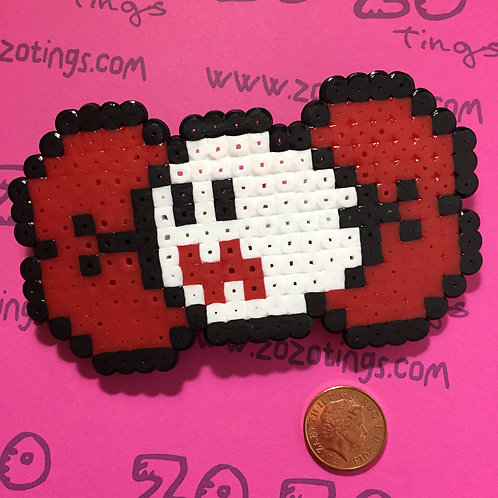 Mario Ghost Pixel Hair Bow