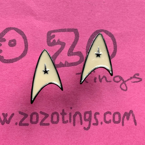Star Trek Metal Stud Earrings