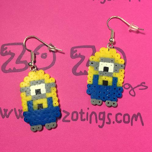 Minion Pixel Earrings