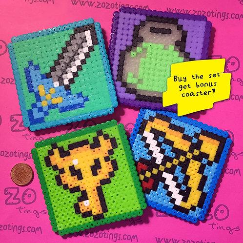 Legend of Zelda Pixel Coasters