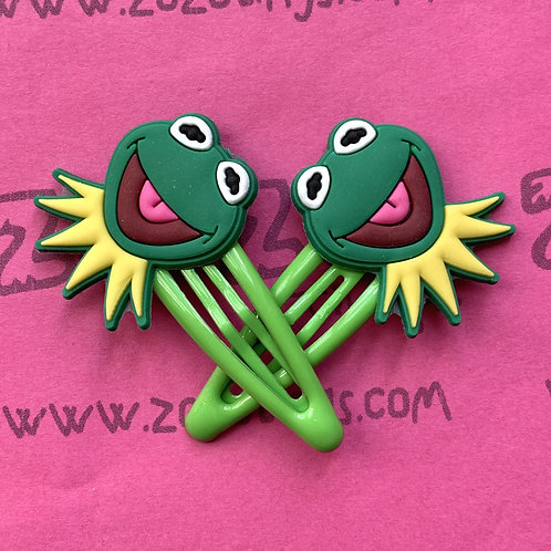 Kermit the Frog Snap Hair Clips