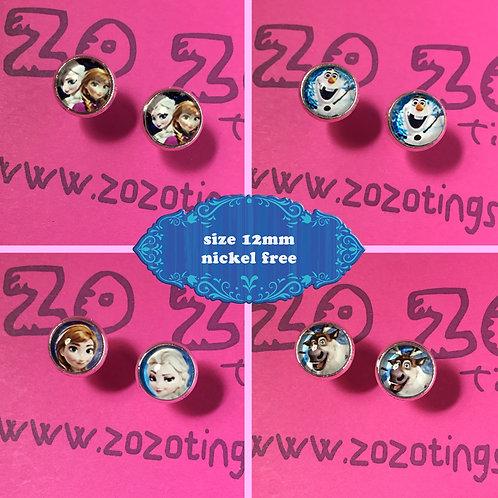 Frozen Stud Earrings