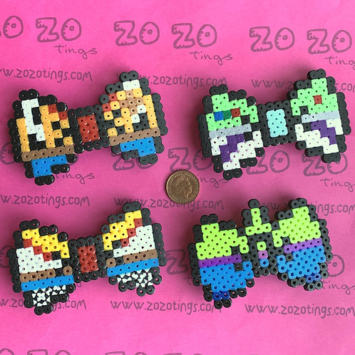 Toy Story Pixel Hair Bows