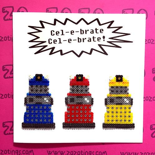 Doctor Who Dalek Celebrate Card