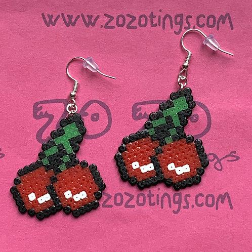 Cherry Pixel Earrings