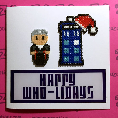 Doctor Who Happy Who-Lidays Card