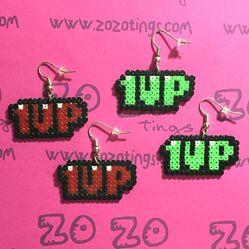 1UP Pixel Earrings