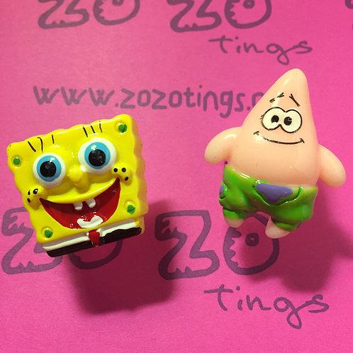 SpongeBob & Patrick Cufflinks