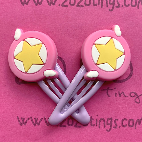 Sailor Moon Star Wing Snap Hair Clips