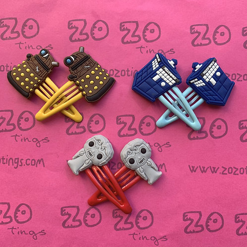 Doctor Who Snap Hair Clips