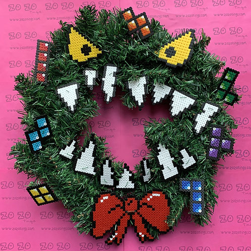 Nightmare Before Christmas 'Tetris' Christmas Wreath