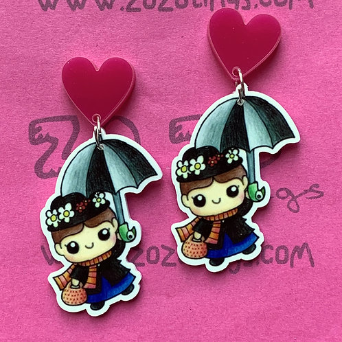 Mary Poppins Stud Earrings