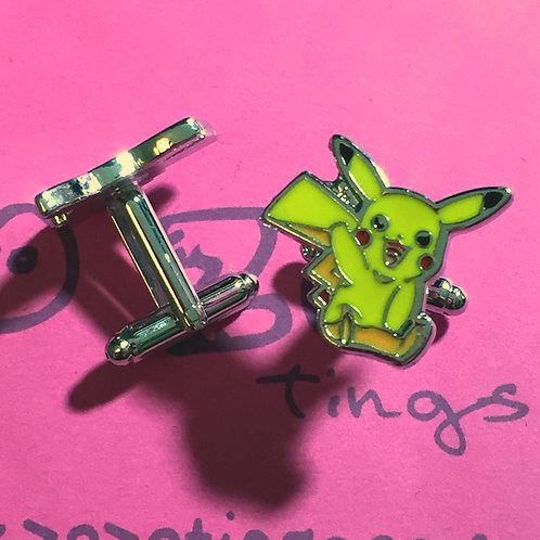 Pokemon Pikachu Metal Cufflinks