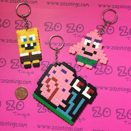 SpongeBob Pixel Keyrings
