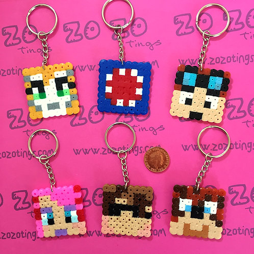 Minecraft All-stars Pixel Keyrings