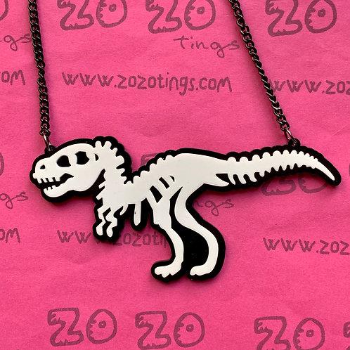 Dinosaur Bones Charm Necklace