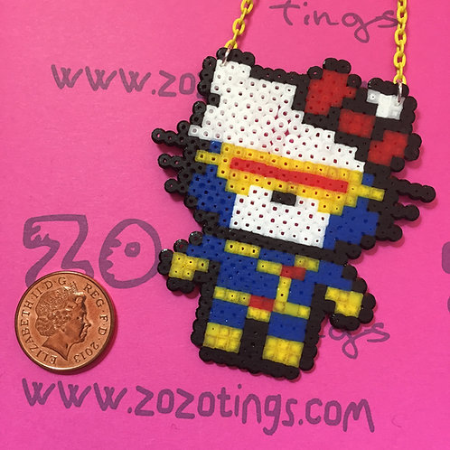 Cyclops Kitty Pixel Necklace