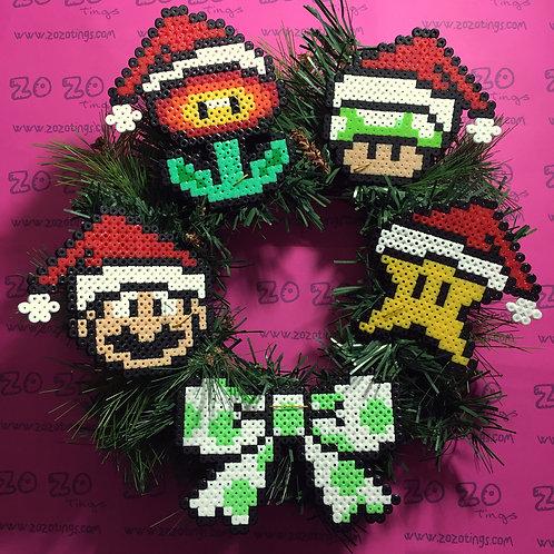 Mario Christmas Wreath