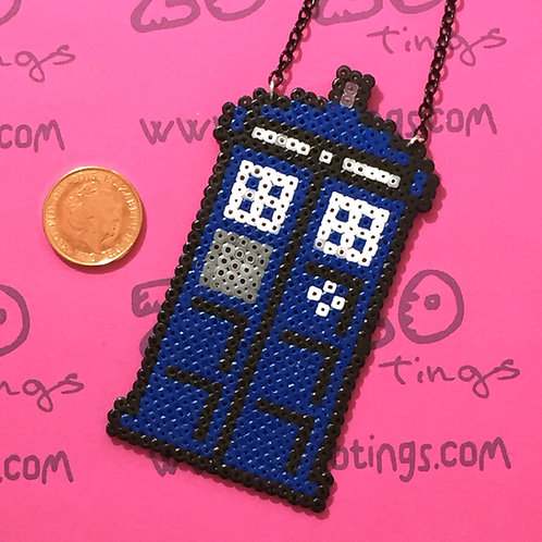 Doctor Who Tardis Pixel Necklace