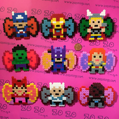 The Avengers Pixel Hair Bows