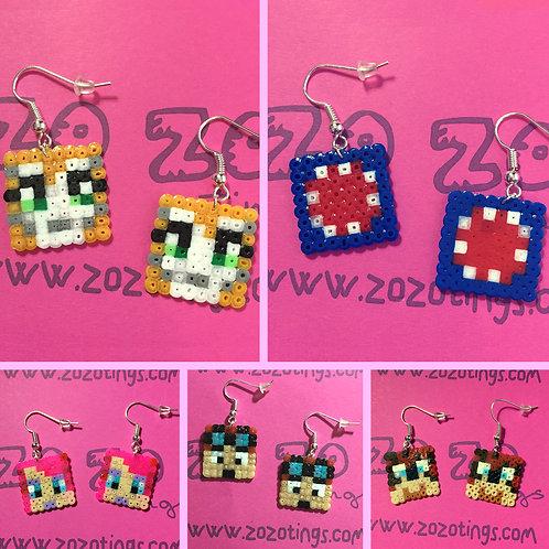 Minecraft All-stars Pixel Earrings