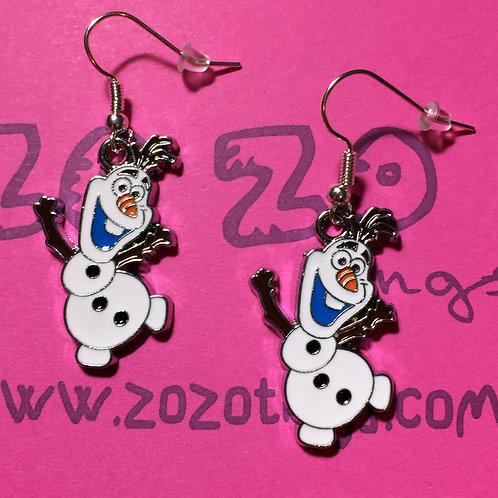 Frozen Olaf Metal Earrings