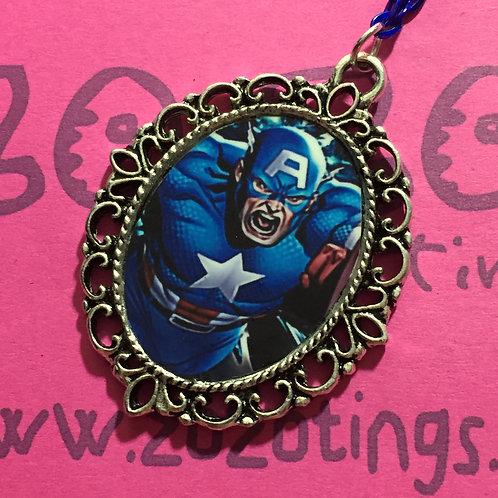 Captain America Vintage Pendant