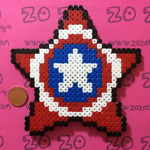 Captain America Star Christmas Tree Topper