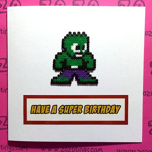 The Hulk Birthday Card