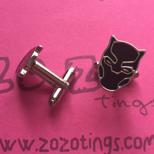 Black Panther Metal Cufflinks