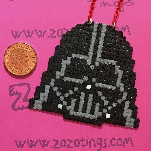 Star Wars Darth Vader Pixel Necklace