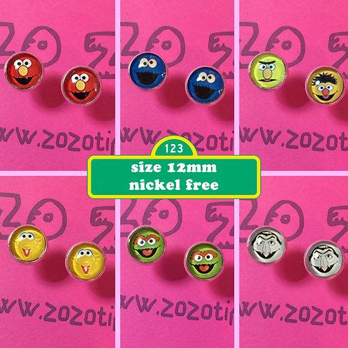 Sesame Street Stud Earrings