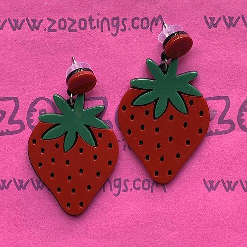 Strawberries Forever Stud Earrings