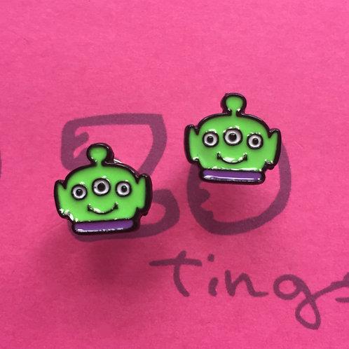 Toy Story Alien Metal Stud Earrings
